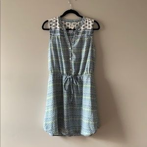GAP sleeveless blue & green summer dress - M
